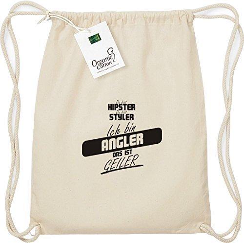 Shirtstown Organico Gymsac sei hipster sei styler sono Pescatore Questo è geiler Naturale