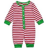 Pijamas de Navidad Familia Pijamas Navideñas Adultos Pijama Familiares Manga Larga Hombre Mujer Niños Niña bebé.