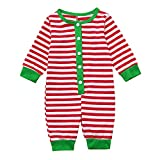 Familie Weihnachten Pyjama Set Green Striped Pyjamas Jumpsuit Bodysuit Sleepwear Homewear Kindabnutzung Set ABsoar Familienanzug Pyjamas