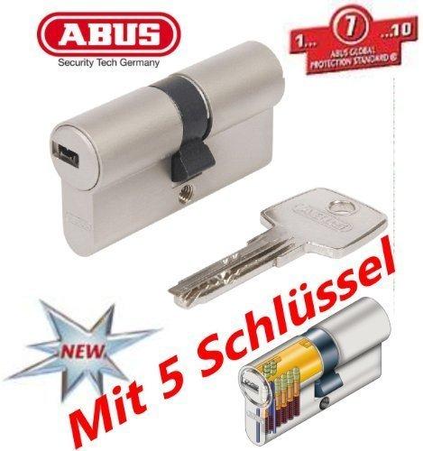 ABUS EC550 Profil-Doppelzylinder Länge 45/50mm mit 5 Schlüssel