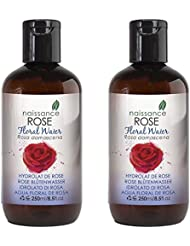 Naissance Rose Floral Water 500l (2x250ml) - Alcohol Free, Vegan & Cruelty Free - Refreshing and Revitalising for Hair, Face & Skin