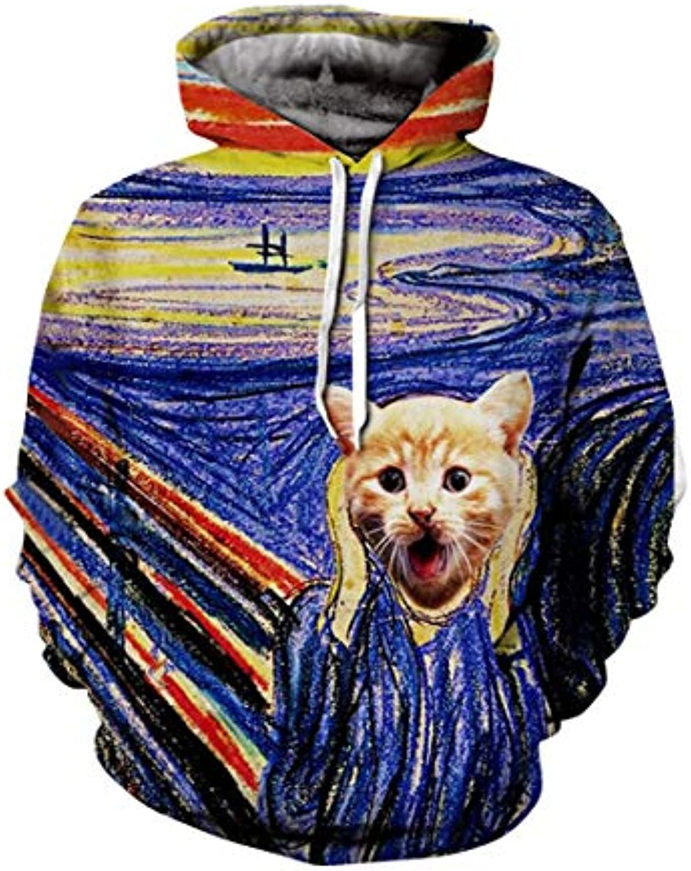Hagyh Funny Cats Pets Maglione 3D di Stampa 3D Maglione Uomo Donna 3D 8c9def 09e450a8469