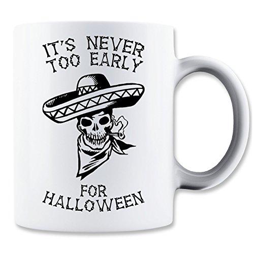 It's Never Early Halloween Smoking Skull Klassische Teetasse Kaffeetasse