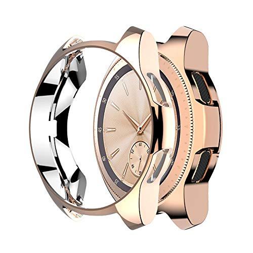 7Lucky Smart Watch Schutzhülle Kompatibel für Samsung Galaxy Watch 42mm,Ultradünne TPU-Beschichtung,Ersatz Smart Watch Schutzhülle (46mm, Rose Gold) -