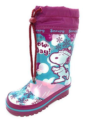 Beppi Kinder Gummistiefel Regenstiefel Schneestiefel Winterstiefel Kleinkinder Warm Gefüttert Wasserdicht Schneefang Schnellverschluß Snoopy (Piraten Stiefel Kleinkind)
