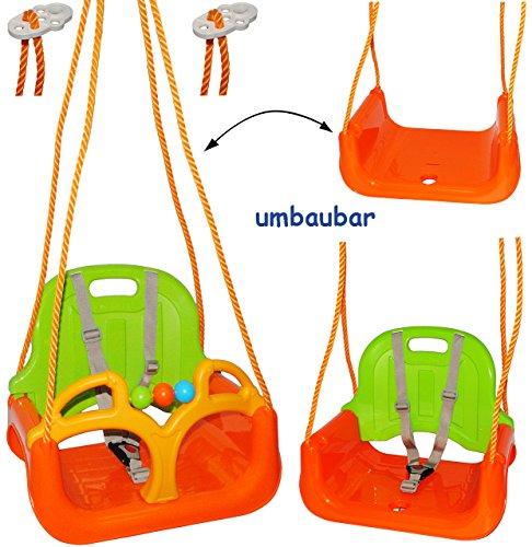 3 in 1 : Babyschaukel Gitterschaukel - Schaukel für Kinder - Innen und Außen / Garten - für Baby´s Kinder aus Kunststoff / Plastik - Kinderschaukel