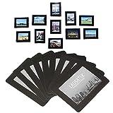 Cadre photo magnétiques 20 Pièces, aimants réfrigérés, cadre de poche pour réfrigérateur, blanc, noir, contient 10x15, 9x13, 8x10, 6x9 cm