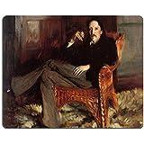Alfombrilla de ratón MSD John Singer Sargent Robert Louis Stevenson 1887personalizado escritorio portátil Gaming Mousepads