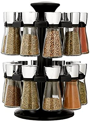 Cole & Mason Hudson 8-Jar Filled Carousel Herb and Spice Rack - White from Cole & Mason