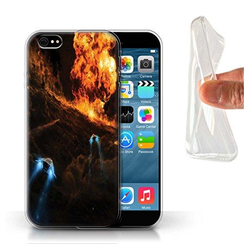 Offiziell Chris Cold Hülle / Gel TPU Case für Apple iPhone 6S / Pack 12pcs Muster / Fremden Welt Kosmos Kollektion Chaos Entfesselt
