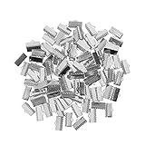 FITYLE Bracelet en Ruban 100 Pièces Marque-Pages Pince à Sertir Conclusions De L'extrémité du Cordon Attaches Fermoirs - Ruban émoussé, 13mm