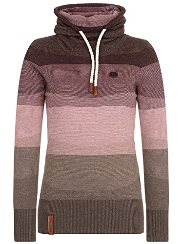 Naketano Female Knit Joao Schmierao III brown melange striped