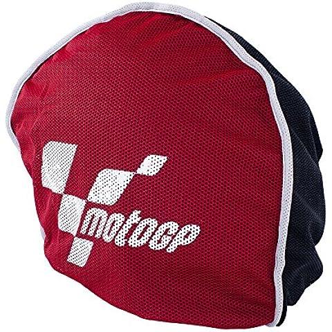 MotoGP- Bolsa para casco de moto, forro polar, color rojo y negro