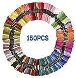Premium 150Echevettes Fil à broder au point de croix fils Dikete Bracelets de l'amitié Floss 8m 6brins Rainbow Couleur en coton doux à coudre pour art Craft DIY