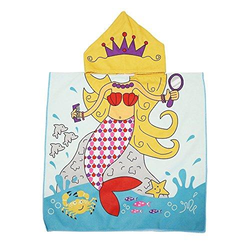 Sinblue - Serviette et poncho 2-en-1 - 61x 121,9cm- Pour enfant, Mermaid