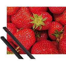 Póster + Soporte: Frutas Póster (50x40 cm) Dulces Fresas Y 1 Lote De 2 Varillas Negras 1art1®