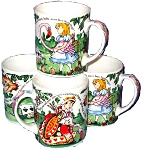 alice im wunderland kaffeebecher mug tasse kaffeetasse teetasse porzellan schmuck. Black Bedroom Furniture Sets. Home Design Ideas