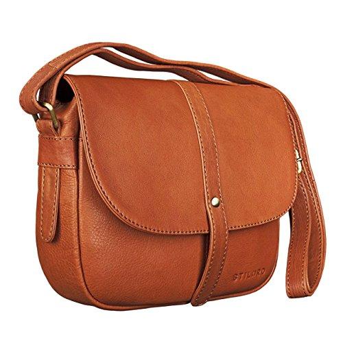 style classique de 2019 sélectionner pour plus récent meilleur choix STILORD 'Kira' Sac à main cuir pour femme sac à bandoulière vintage petit  sac à l'épaule besace en véritable cuir