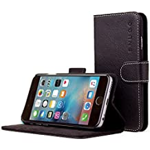 Snugg iPhone 6 Case, Black Leather iPhone 6 Flip Case [Lifetime Guarantee] Premium Wallet Phone Cover with Card Slots for Apple iPhone 6