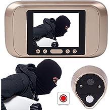 Giantree Visor de puerta inteligente, cámara de mirilla digital HD con ángulo de visión amplio
