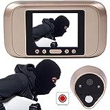 Giantree Visor de puerta inteligente, cámara de mirilla digital HD con ángulo de visión amplio...