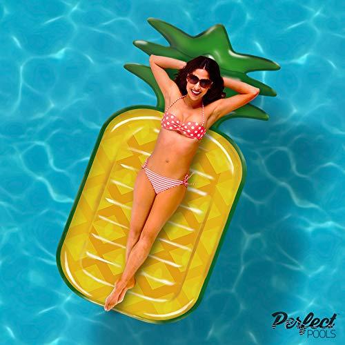 Gonfiabile Gigante Ufficiali \'Pools Perfetto\' Ananas Lilo | Piscina Galleggiante 180 Centimetri