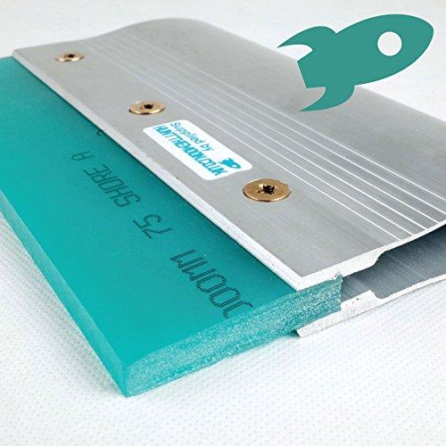 20cm Deluxe Aluminium Siebdruck Rakel–quadratisch geschliffenen Klinge Siebdruck Drucker