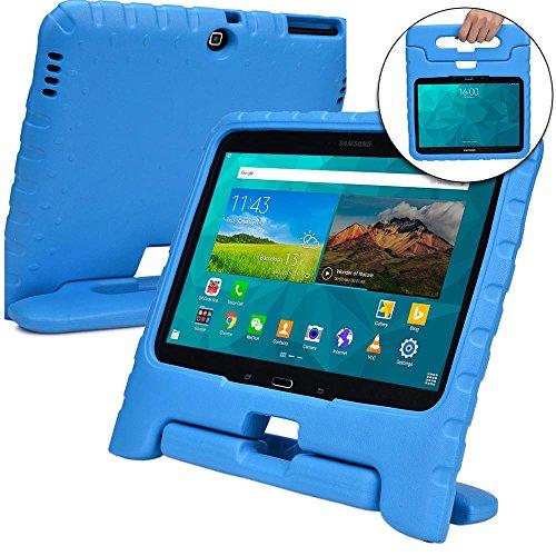 Cooper Cases(TM) Dynamo Samsung Galaxy Tab 4 10.1 (T530/T531/T535) & 3 10.1 (P5200/P5210/P5220) Hülle für Kinder in Blau (Leicht, ungiftiger EVA-Schaum, haltbares Design, Extraschutz, Freier Stand)