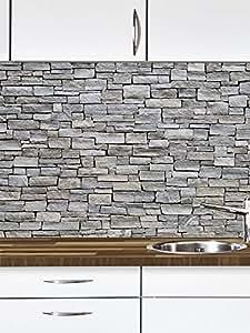 graue steine k chen deko k chennische schmutz resistent abewaschbar mit erweiterung foto. Black Bedroom Furniture Sets. Home Design Ideas