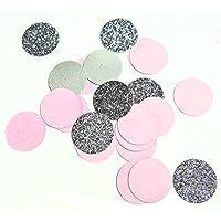 Konfetti rosa silber glitter (handgemacht Konfetti)