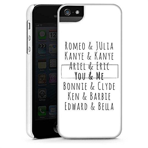 Apple iPhone SE Housse Outdoor Étui militaire Coque Romeo et Juliette Phrase Kanye CasStandup blanc