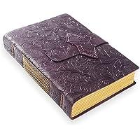ScrodCat - Cuaderno de notas (A5, piel sintética, tamaño mediano, 20 x 15 cm, ideal para viajes, viajes, viajes, viajes, viajes), color morado Flor