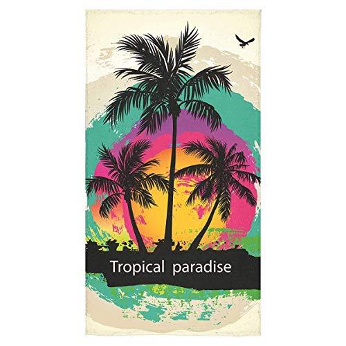 opi 90iuop Tropische abstrakte Palme Neuheit Strand Badetücher Quick Dry Waschlappen Decke Yoga-Matte 32