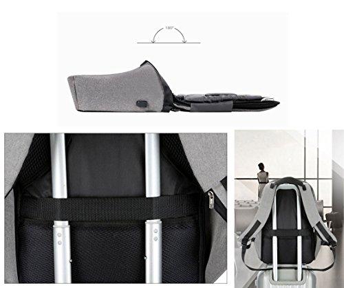 BSTcentelha Zaino antifurto con porta USB, casual, impermeabile, leggero, per scuola/viaggio