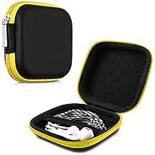 kwmobile Estuche rígido para In-Ear auriculares en amarillo - Estuche de alta calidad para tus auriculares