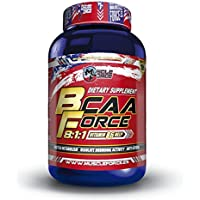 Muscle Force Bcaa Capsule, Aminoácidos Esenciales - 200 Capsulas