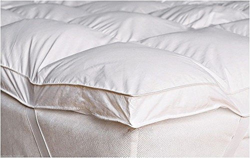 Goose Feather & Down Duck Feather & Down Mattress Topper Cover White All Sizes (Double)