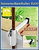 WENKO Sonnenschirmhalter FLEXI - Stahl - weiß - Schirmhalter für