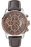 Guess Hommes Chronographe Quartz Montre avec Bracelet en Cuir X81002G4S