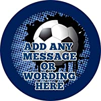 Any Colour Football Blue Sticker Labels Personalised Seals Ideal for Party Bags, Sweet Cones, Favours, Jars, Presentations Gift Boxes, Bottles, Crafts