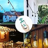 Salcar WiFi-Steuerung LED Lichterkette E27, 15m, LED Lichterkette für Aussen mit iPhone App oder WiFi-Kontrollesteuerbar - Warmweiß