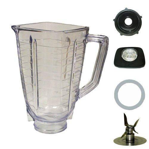5Cup Quadrat Top 5Stück Kunststoff Jar Ersatzteil, passend für Oster - Oster-glas-mixer-glas