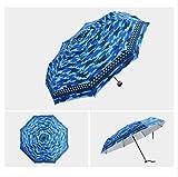 YSZYSA Ombrello Pieghevole da Pioggia per Donna Piccolo Regalo per Donna Mini Tasca per ombrellone per Ragazze Anti-UV Impermeabile Portatile da Viaggio per Uomo Blu