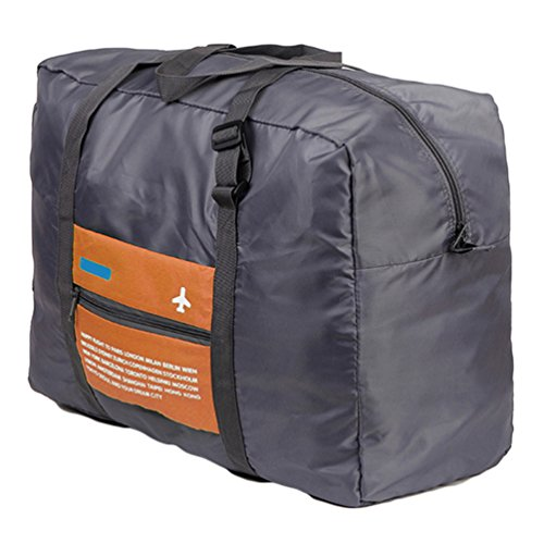 Sentao Kleidertaschen Faltbare Reise-Gepäck Duffel Taschen Leichtgewicht Sporttaschen für Sports Turnhalle Urlaub Orange