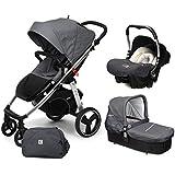 Casualplay Match 3 Loop - Silla de paseo con chasis de aluminio + CasualplayCot + Baby 0+