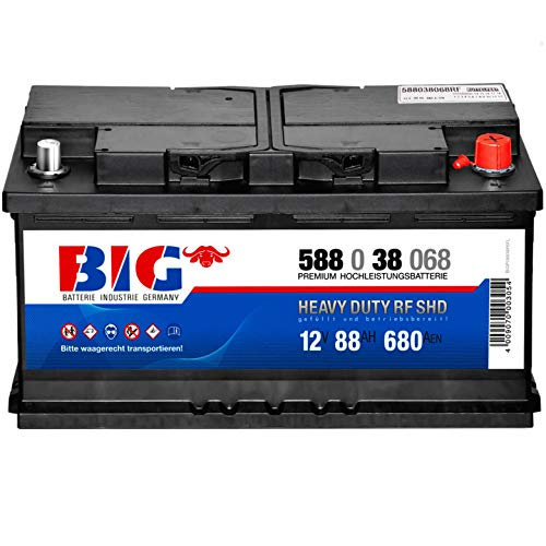 Autobatterie 12V 88Ah BIG Batterie 58838 Traktor Rüttelfest statt 80Ah 85Ah 90Ah
