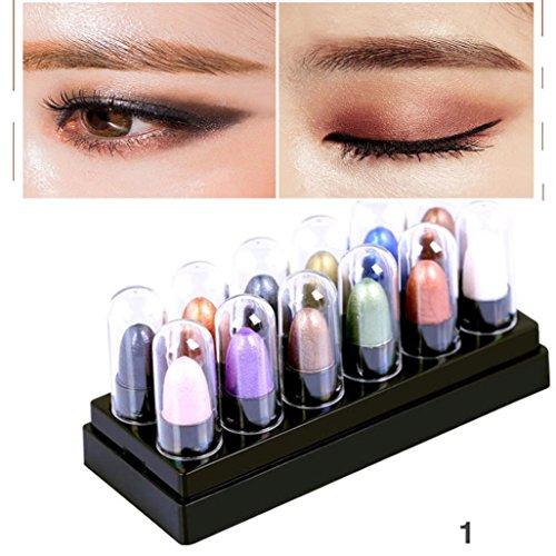 12 Couleurs Pailleté Ombre a Paupieres et Crayon Nacré Glitter Fard à paupières Waterproof Beauty Pro Eyeshadow Kit - OverDose (#1)