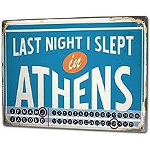 Calendrier perpétuel Ville Athènes Grèce métal