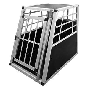 Leopet - Cage Box Caisse de Transport pour Chien en Voiture 55 x 75 x 69 cm