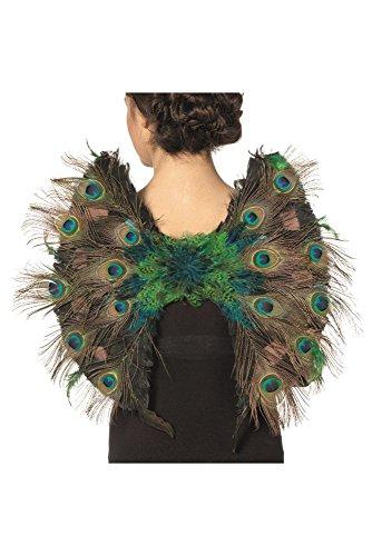 Flügel Pfau mit Federn Karneval Fasching